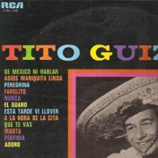 Discos de vinilo: TITO GUIZAR LP SELLO RCA CAMDEN AÑO 1968. Lote 10682602