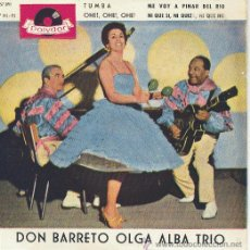 Discos de vinilo: DON BARRETO OLGA ALBA TRIO EP POLYDOR 1963 SPA 21857 EPH. Lote 213592268