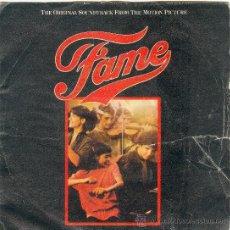 Discos de vinilo: UXV IRENE CARA SINGLE VINILO BANDA SONORA ORIGINAL DE FAME METRO GOLDWYN MAYER 1980. Lote 10736166