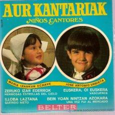 Discos de vinilo: DISCO VINILO EP 52319 AUR KANTARIAK MARIA IZASTUN - JOSE ANTONIO URBIETA ILLOBA LAZTANA- ED BELTER. Lote 10767936
