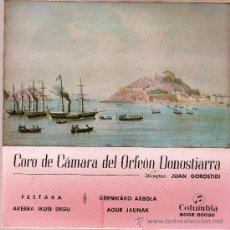 Discos de vinilo: DISCO VINILO EP SCGE 80030 CORO DE CAMARA DEL ORFEON DONOSTIARRA ED COLUMBIA. Lote 26001548