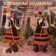 Discos de vinilo: DISCO VINILO EP Z-E 112 LOS IRUÑA KO ESTAMPAS BILBAINAS -DESDE SANTURCE A BILBAO ED ZAFIRO. Lote 26921776