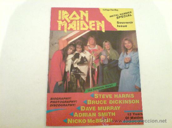 IRON MAIDEN METAL HAMMER ESPECIAL / FANS MAGAZINE / 16 PAG. / VINILOVINTAGE (Música - Discos - LP Vinilo - Heavy - Metal)