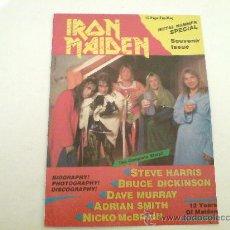 Discos de vinilo: IRON MAIDEN METAL HAMMER ESPECIAL / FANS MAGAZINE / 16 PAG. / VINILOVINTAGE. Lote 22871882