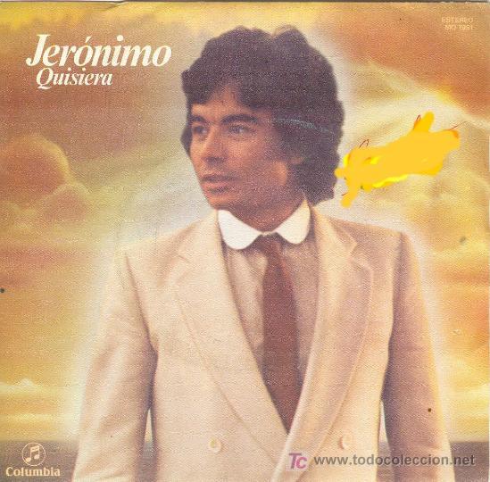 UXV JERONIMO SINGLE PROMOCIONAL XXI FESTIVAL CANCION BENIDORM CON LETRA CANCION CARATULA QUISIERA (Música - Discos - Singles Vinilo - Otros Festivales de la Canción)