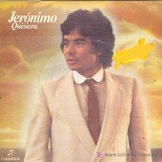 Discos de vinilo: UXV JERONIMO SINGLE PROMOCIONAL XXI FESTIVAL CANCION BENIDORM CON LETRA CANCION CARATULA QUISIERA . Lote 22661911