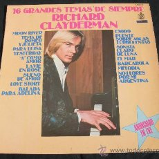 Discos de vinilo: RICHARD CLAYDERMAN / 16 GRANDES TEMAS DE SIEMPRE. Lote 27109880