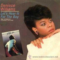 Discos de vinilo: DENIECE WILLIANS ··· LET'S HEART IT FOR THE BOY / LET'S... - (SINGLE 45 RPM) ··· BSO - FOOTLOOSE. Lote 20431131