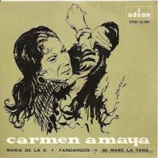 Discos de vinilo: CARMEN AMAYA EP SELLO ODEON AÑO 1964.. Lote 10884855