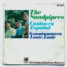 Discos de vinilo: THE SANDPIPERS ··· GUANTANAMERA / LOUIE, LOUIE · (SINGLE 45 RPM). Lote 22735051