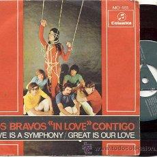 Discos de vinilo: SINGLE 45 RPM / LOS BRAVOS / LOVE IN SYMPHONY / EDITADO POR COLUMBIA 1968. Lote 18157643