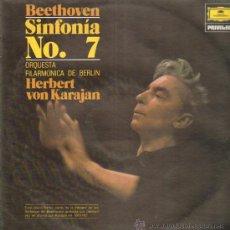 Discos de vinilo: BEETHOVEN INFONIA NO. 7 ORQUESTA FILARMONICA DE BERLIN HERBERT VON KARAJAN. Lote 10945806