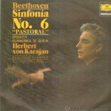 Discos de vinilo: BEETHOVEN SINFONIA NO. 6 PASTORAL ORQUESTA FILARMONICA DE BERLIN HERBERT VON KARAJAN. Lote 10945876