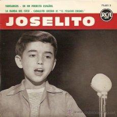 Discos de vinilo: JOSELITO EP SELLO RCA VICTOR EDITADO EN FRANCIA. Lote 10965837