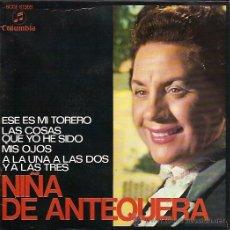 Discos de vinilo: NIÑA DE ANTEQUERA EP SELLO COLUMBIA AÑO 1969. Lote 10966214
