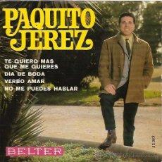 Discos de vinilo: PAQUITO JEREZ EP SELLO BELTER AÑO 1969. Lote 10981580