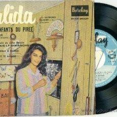 Discos de vinilo: DALIDA. LES ENFANTS DU PIREE........ (VINILO-EP 1959). Lote 10994658