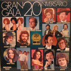 Discos de vinilo: DOBLE VINILO GRAN GALA 20 ANIVERSARIO, MANOLO ESCOBAR, TERESA RABAL, FOSFORITO, DOLORES ABRIL, ETC... Lote 25463214