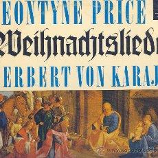 Discos de vinilo: NAVIDAD LP 25 CM 10 PULGADAS LEONTYNE PRICE, H. V. KARAJAN, WEIHNACHTSLIEDER DECCA BD 5011-E,. Lote 22829043