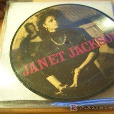Disques de vinyle: JANET JACKSON ( DOUBLE PICTURE DISC ) LET'S WAIT A WHILE / NASTY / CONTROL ) UK 1986 (EPI02). Lote 22610718