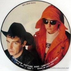 Discos de vinilo: PET SHOP BOYS - LP - PICTURE DISC - NUEVO !!!. Lote 105388650