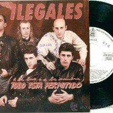 Discos de vinilo: ILEGALES. TODO ESTA PERMITIDO (VINILO -SINGLE-1990). Lote 11114482