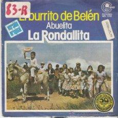 Discos de vinilo: JOYAS DEL VINILO- 45 RPM ---AÑO 1977---EL BURRITO DE BELEN (LA ABUELITA--LA RONDALLITA). Lote 27083898