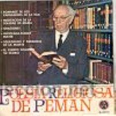 Discos de vinilo: POESÍA RELIGIOSA DE PEMÁN EP E/E. Lote 25622516