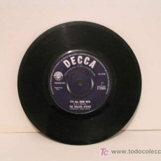 Discos de vinilo: THE ROLLING STONES - SINGLE SIN FUNDA. IT'S ALL OVER NOW . GOOD TIME, BAD TIMES. 1964. Lote 24383291