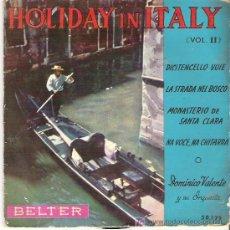 Discos de vinilo: HOLYDAY IN ITALY ( VOL II ) *** EP 1958 BELTER. Lote 11393108