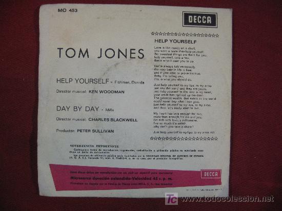 Discos de vinilo: TOM JONES - 45 RPM - Foto 3 - 11193441