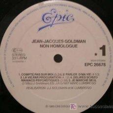 Discos de vinilo: LP VINILO SIN FUNDA - JEAN JACQUES GOLDMAN - NON HOMOLOGUE - 1985. Lote 11240848