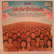 Discos de vinilo: MAXI VINILO USA FOR AFRICA - WE ARE THE WORLD - BOB DYLAN, MICHAEL JACKSON, DIANA ROSS, BRUCE SPRING. Lote 26713581