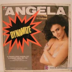 Discos de vinilo: MAXI SINGLE VINILO ANGELA - DYNAMITE - 1989. Lote 26840261