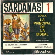 Discos de vinilo: SARDANAS 1 - COBLA LA PRINCIPAL DE LA BISBAL. Lote 27192817