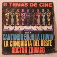Discos de vinilo: TEMAS DE CINE - CANTANDO BAJO LA LLUVIA,EL PUENTE SOBRE RIO KWAY,DOCTOR ZHIVAGO, 2001 ODISEA EN EL. Lote 25751266