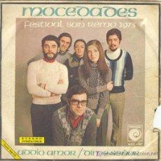 Discos de vinilo: UXV MOCEDADES SINGLE VINILO ADDIO AMOR DIME SEÑOR FESTIVAL SAN REMO 1973 FOLK. Lote 11324379