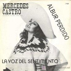 Discos de vinilo: UXV MERCEDES CASTRO SINGLE PROMO CON CARTA PRESENTACION RANCHERAS MARIACHIS MEXICO ARBUR PERDIDO . Lote 26307300
