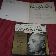 Discos de vinilo: BARTOK BELA COMPLETA EDICION MIKROKOSMOS .ZEMPLENI.SZUCS...CAJA 3 LP MAS LIBRETO LPX 11407-7 . Lote 26007898