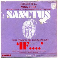 Discos de vinilo: SANCTUSE - MISA LUBA-IF... SINGLE 1969 S159. Lote 23477186