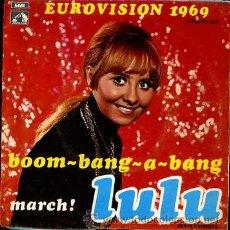Discos de vinilo: LULU EUROVISION 1969. Lote 24941192