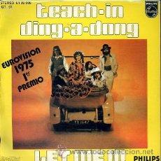 Discos de vinilo: TEACH IN. EUROVISION 1975. Lote 26499032