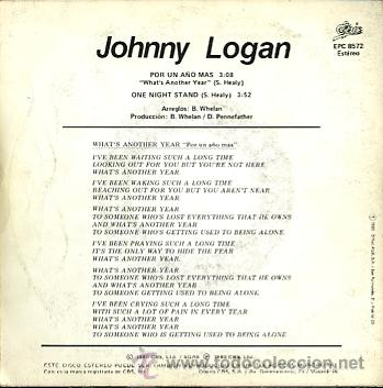 Discos de vinilo: JOHNNY LOGAN. EUROVISION 1980 - Foto 2 - 26908132