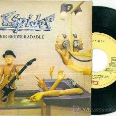 Discos de vinilo: RAPIDOS. AMOR BIODEGRADABLE (VINILO-SINGLE - PROMOCIONAL -1981). Lote 11378766