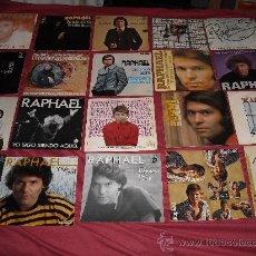 Discos de vinilo: RAPHAEL LOTE DE 20 SINGLES ORIGINALES. Lote 27572657