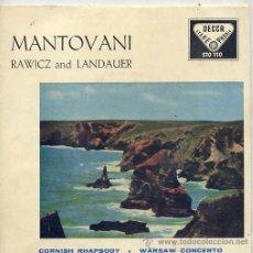 Discos de vinilo: MANTOVANI / CONCIERTO DE VARSOVIA / RAPSODIA DE CORNUALLES (EP 59). Lote 11389188