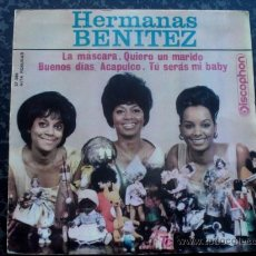 Discos de vinilo: RONETTES COVER BE MY BABY EP 1964 -HERMANAS BENITEZ - DISCOPHON 27380 - PHIL SPECTOR. Lote 27599316
