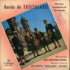 Discos de vinilo: BANDA DE TXISTULARIS DEL AYTO DE SAN SEBASTIAN - AURRESKU / BASARRITARRA - EP 1962. Lote 11447163