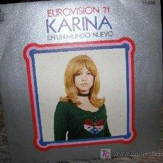 Discos de vinilo: KARINA EUROVISÓN 1971. Lote 26954337