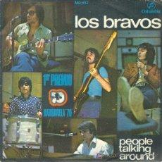 Discos de vinilo: UXV LOS BRAVOS SINGLE VINILO PREMIO BARBARELA 1970 POP ROCK PEOPLE TALKIHG AROUND. Lote 22564243